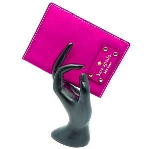 KATE SPADE~wellesley~PASSPORT CASE~PINK LEATHER